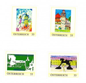 Briefmarken von Ansbach nachKindermalwettbewerb