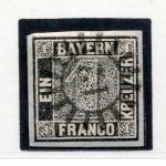 Erste deutsche Briefmarke mit Mühlradstempel von Ansbach